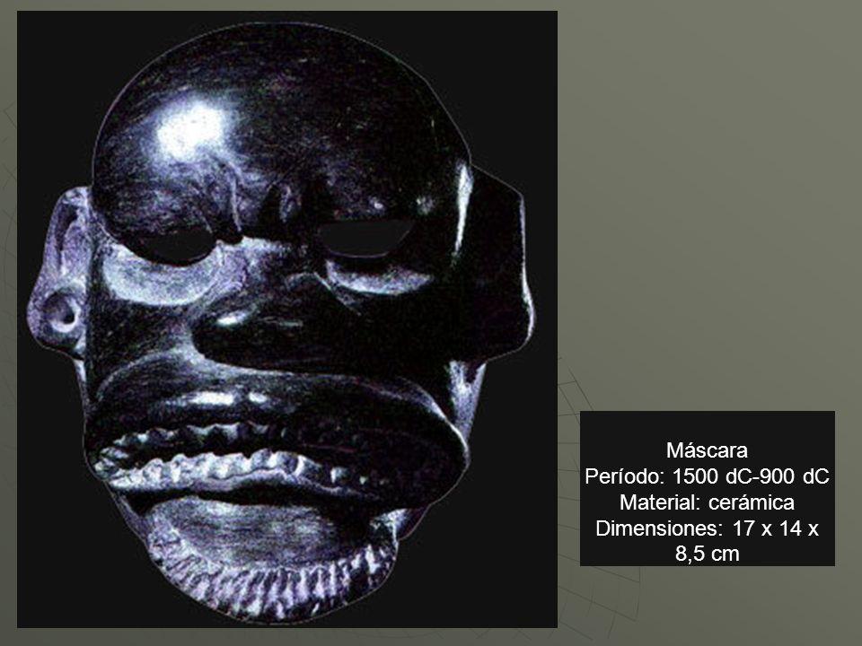 Máscara Período: 1500 dC-900 dC Material: cerámica Dimensiones: 17 x 14 x 8,5 cm