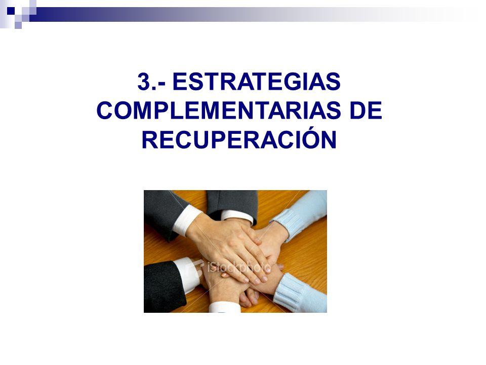 3.- ESTRATEGIAS COMPLEMENTARIAS DE RECUPERACIÓN