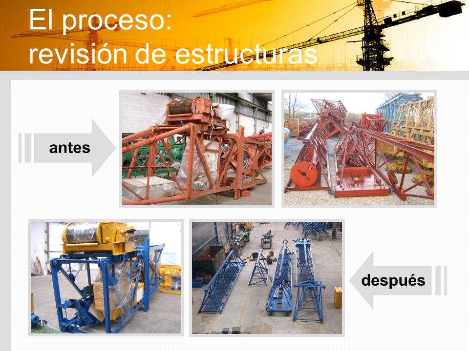 El proceso: revisión de estructuras antes después