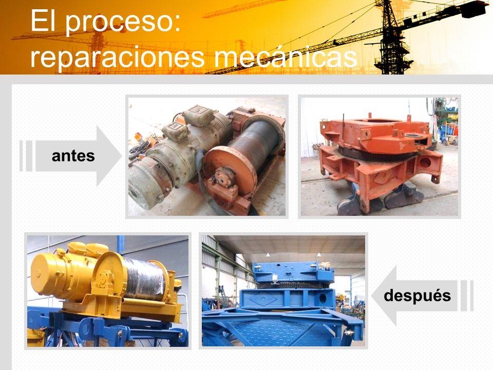 El proceso: reparaciones mecánicas antes después