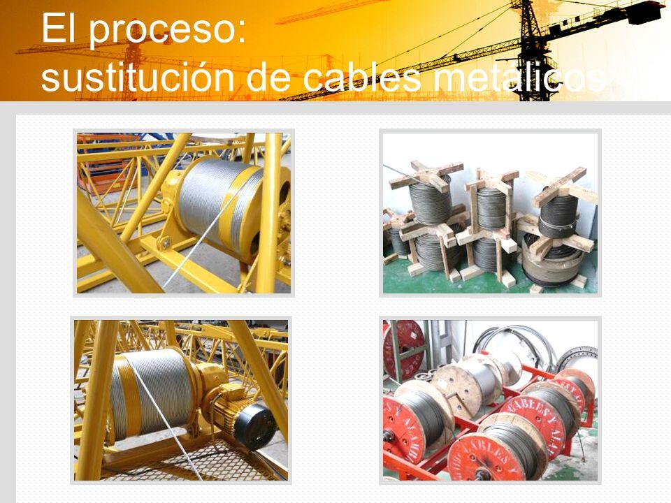 El proceso: sustitución de cables metálicos