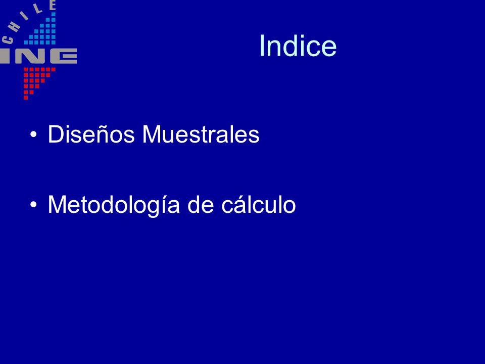 Indice Diseños Muestrales Metodología de cálculo