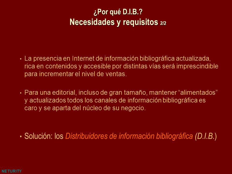 NETURITY La presencia en Internet de información bibliográfica actualizada, rica en contenidos y accesible por distintas vías será imprescindible para