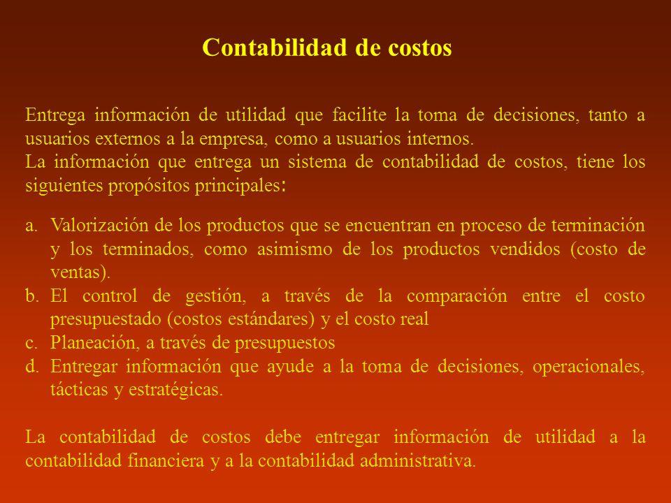 Costos conjuntos Clasificación: Depende de la capacidad de generar ingresos.
