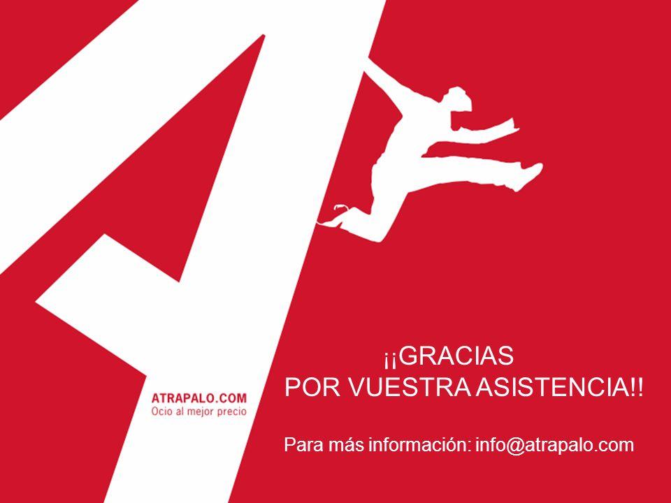HOTELES SILKEN ¡¡ GRACIAS POR VUESTRA ASISTENCIA!! Para más información: info@atrapalo.com