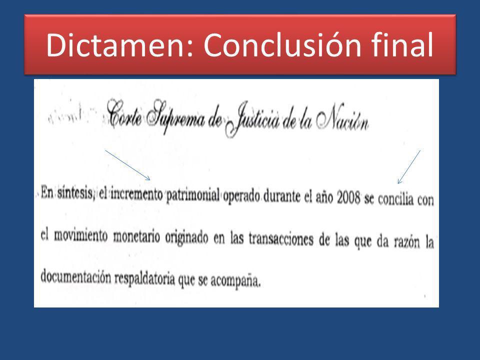 Dictamen: Conclusión final