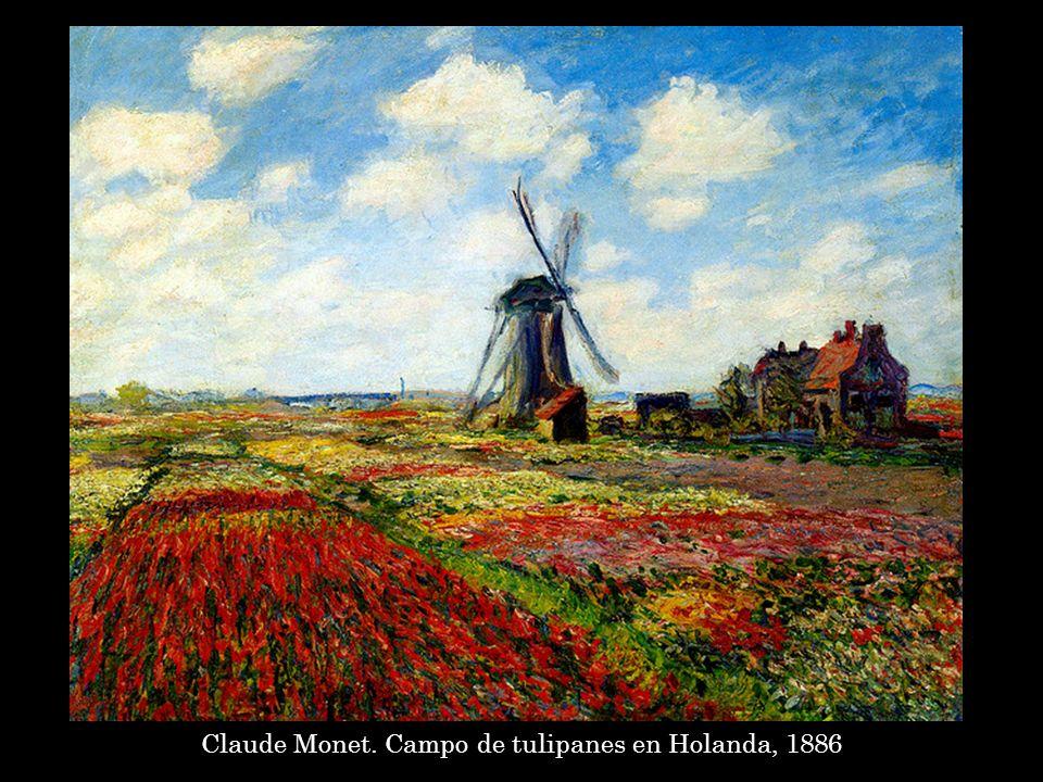 Vincent Van Gogh. Campo de tulipanes,1883