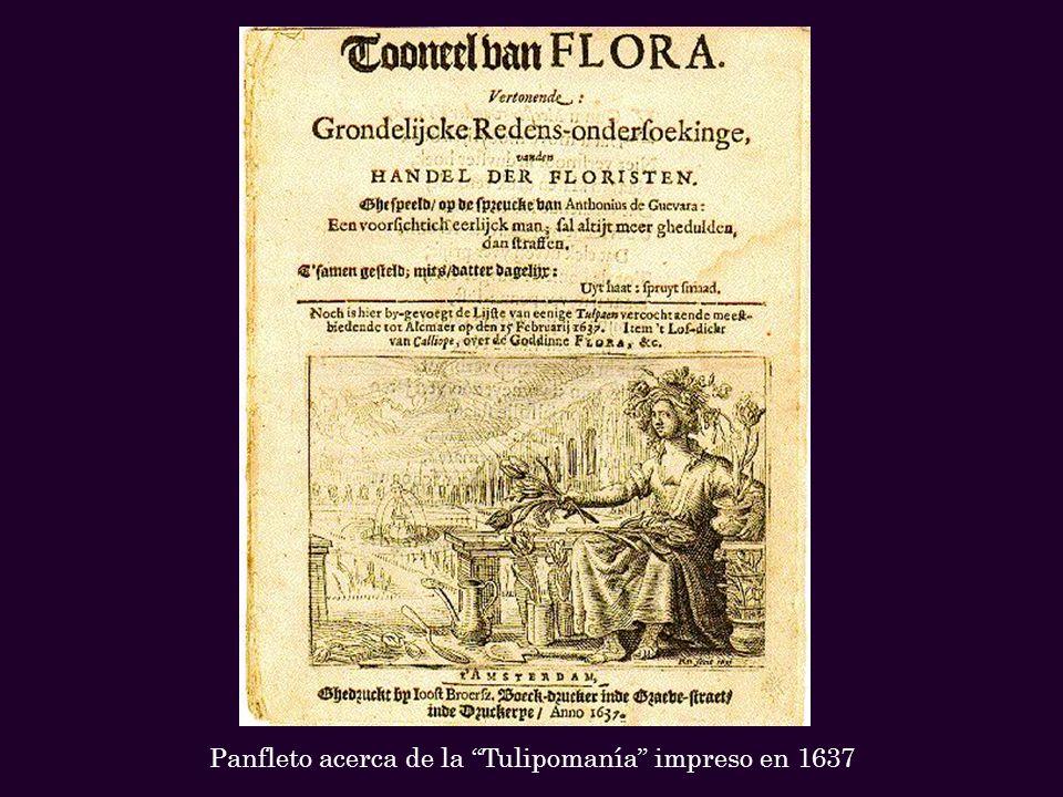 En esta escena, un noble guarda una flor, y unos soldados pisotean los macizos de flores con el vano intento de estabilizar el mercado del tulipán al limitar la oferta.