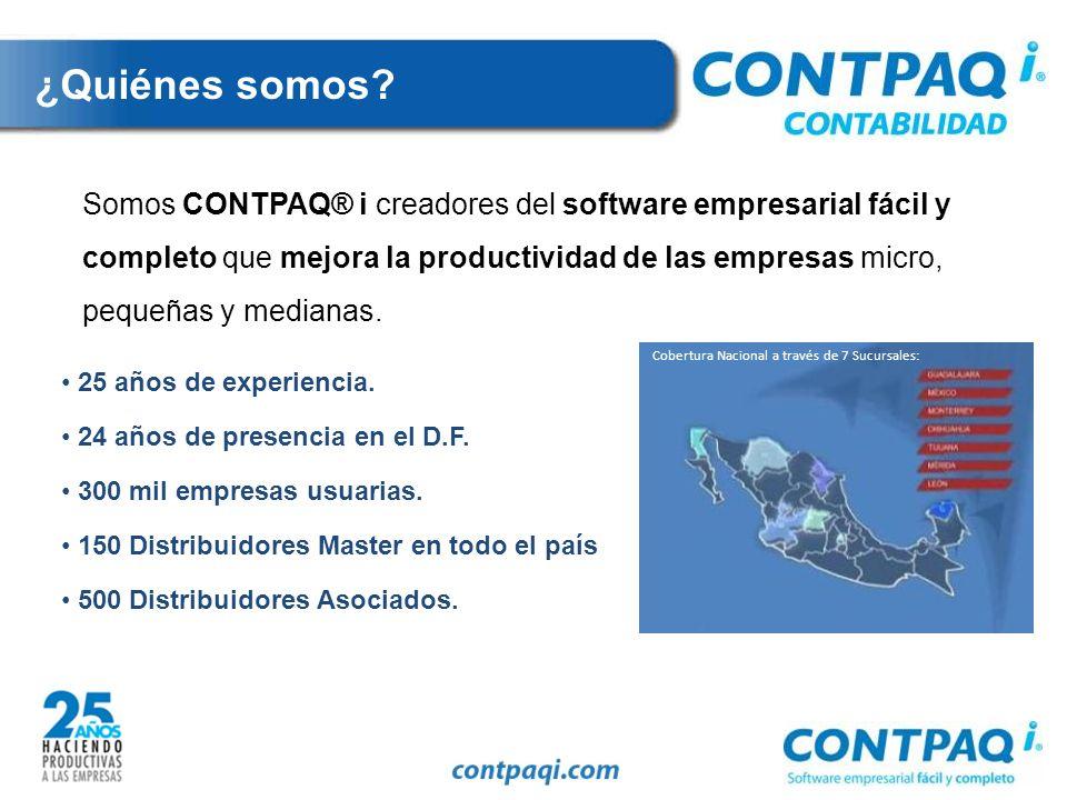 Con CONTPAQ i® CONTABILIDAD 2010, estamos comprometidos a que nuestro software empresarial mejore la productividad de tu empresa y te ayude a cumplir con todas las obligaciones fiscales de una manera eficiente.