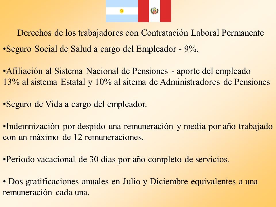 Derechos de los trabajadores con Contratación Laboral Permanente Seguro Social de Salud a cargo del Empleador - 9%. Afiliación al Sistema Nacional de