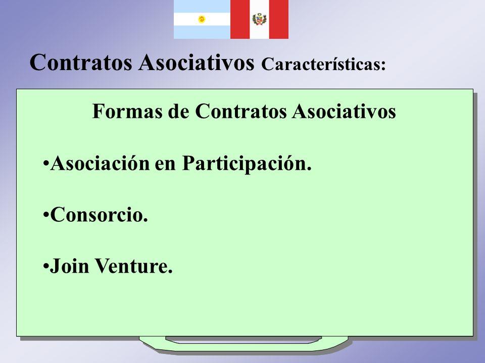 Contratos Asociativos Características: Vínculo Jurídico Crean y regula la participación e integración en negocios o empresas. No generan una persona j