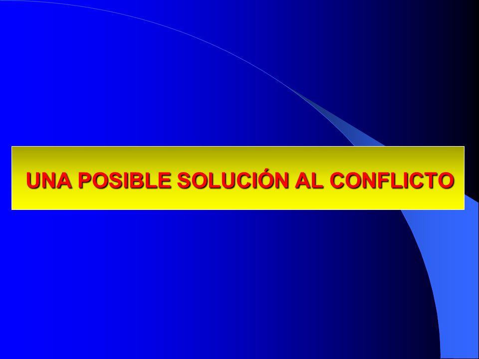 UNA POSIBLE SOLUCIÓN AL CONFLICTO UNA POSIBLE SOLUCIÓN AL CONFLICTO