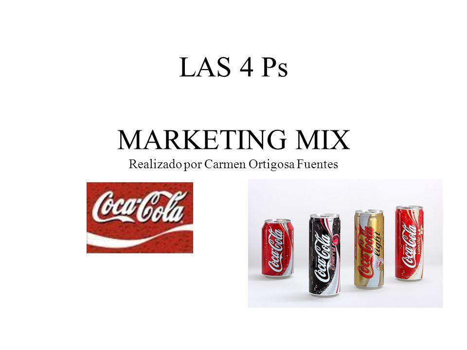 MARKETING MIX Realizado por Carmen Ortigosa Fuentes LAS 4 Ps