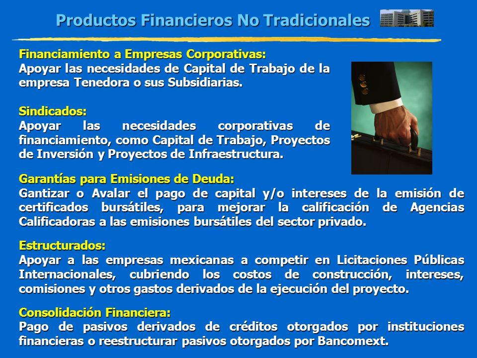 Productos Financieros No Tradicionales Financiamiento a Empresas Corporativas: Apoyar las necesidades de Capital de Trabajo de la empresa Tenedora o s