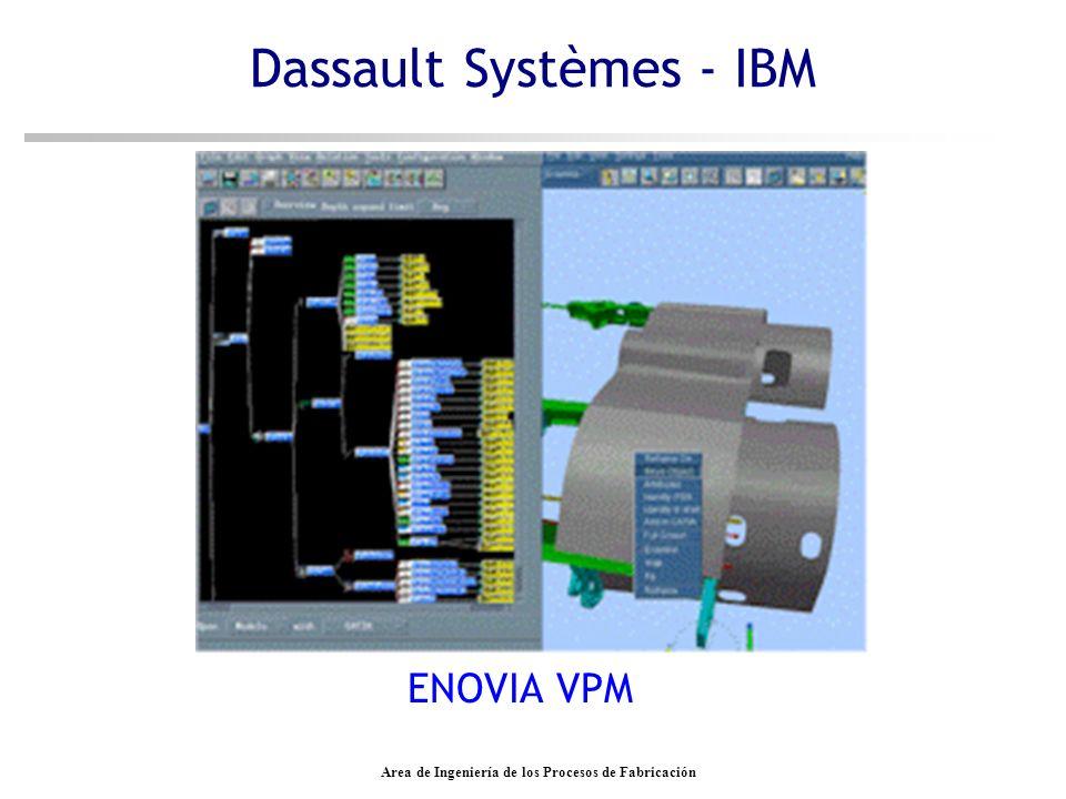 Area de Ingeniería de los Procesos de Fabricación Dassault Systèmes - IBM ENOVIA VPM