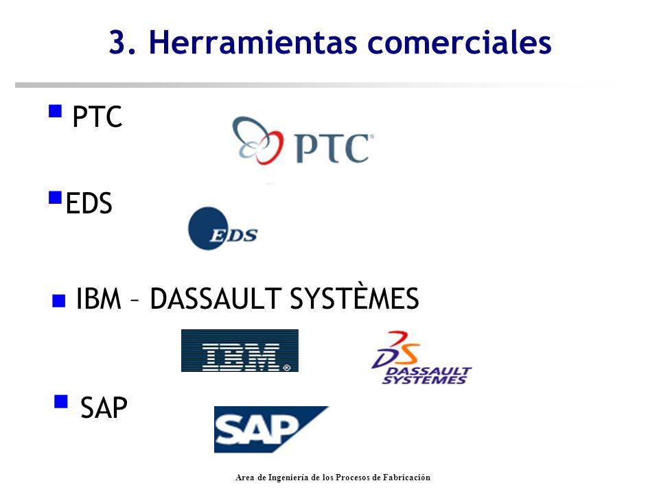 Area de Ingeniería de los Procesos de Fabricación n IBM – DASSAULT SYSTÈMES 3. Herramientas comerciales SAP PTC EDS