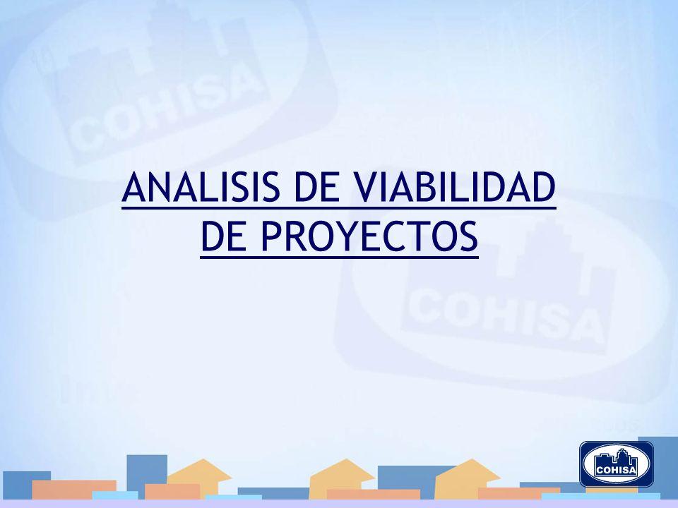 ANALISIS DE VIABILIDAD DE PROYECTOS