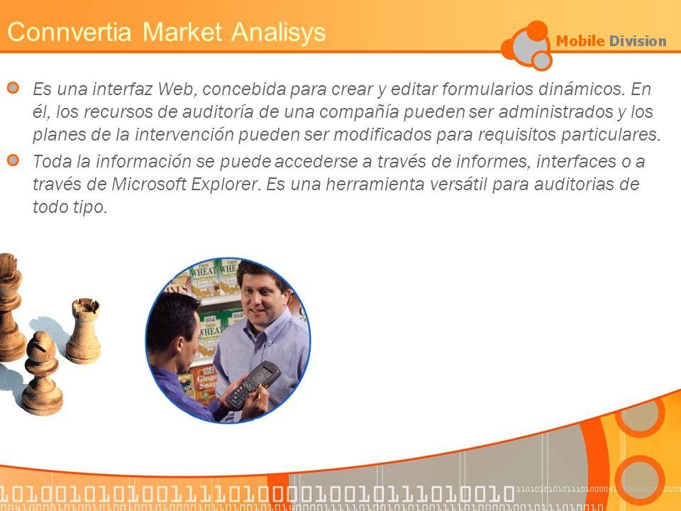 Connvertia Market Analisys Es una interfaz Web, concebida para crear y editar formularios dinámicos.