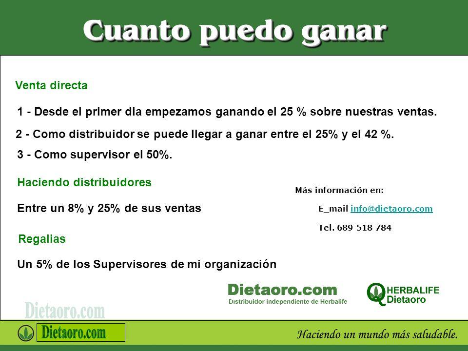 Más información en: E_mail info@dietaoro.com Tel. 689 518 784info@dietaoro.com