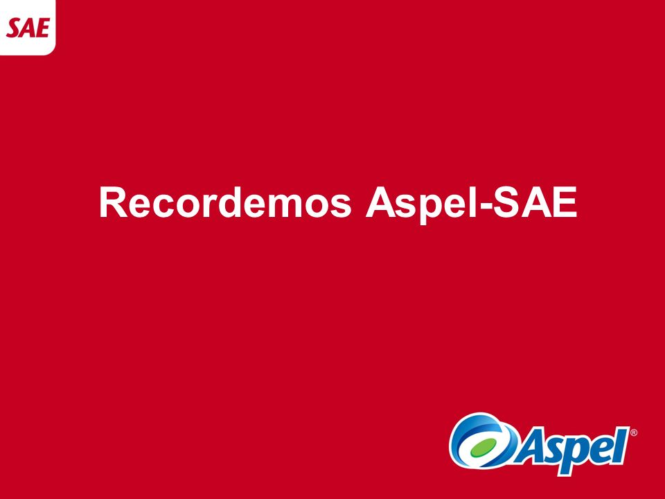 Recordemos Aspel-SAE
