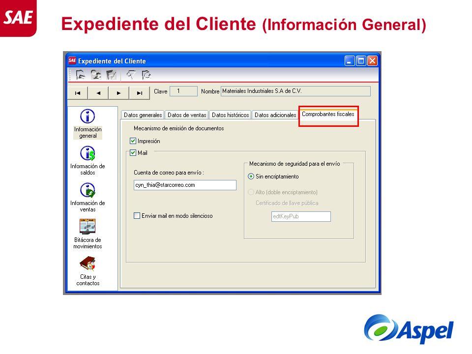 Expediente del Cliente (Información General)