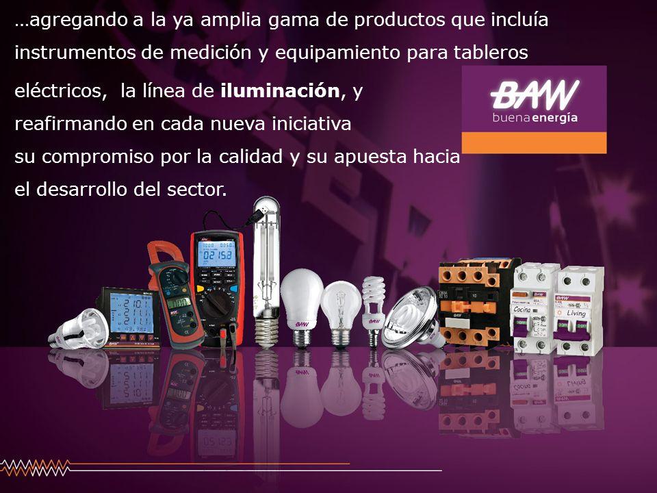 BAW-iluminación logró un vertiginoso crecimiento desde sus inicios, ofreciendo cada vez más productos para satisfacer la demanda de la red de distribución.