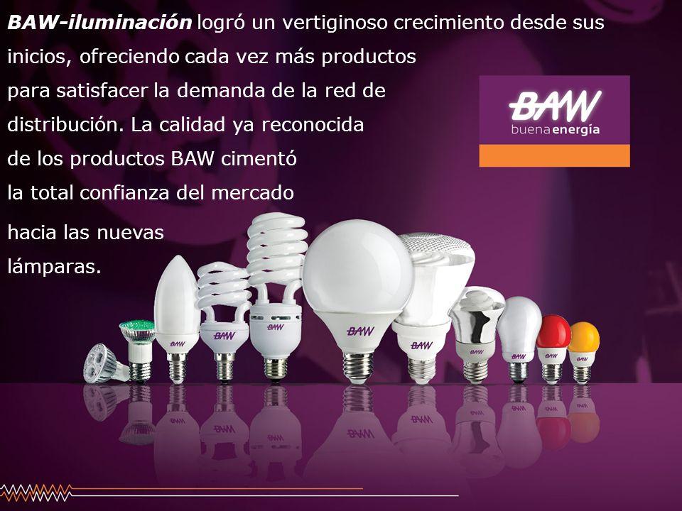 BAW-iluminación logró un vertiginoso crecimiento desde sus inicios, ofreciendo cada vez más productos para satisfacer la demanda de la red de distribu