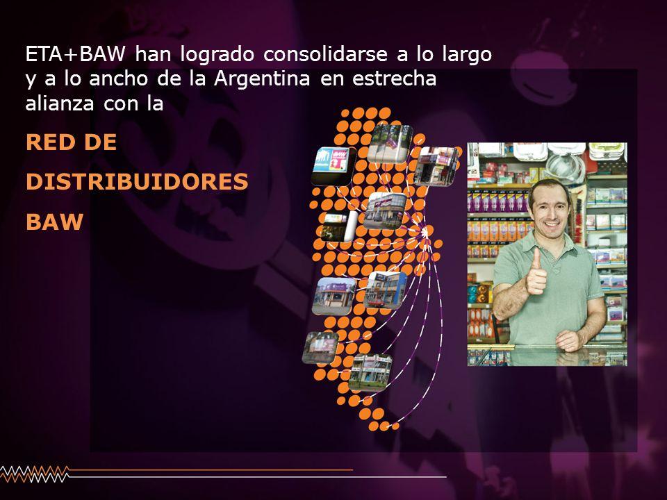 ETA+BAW han logrado consolidarse a lo largo y a lo ancho de la Argentina en estrecha alianza con la RED DE DISTRIBUIDORES BAW