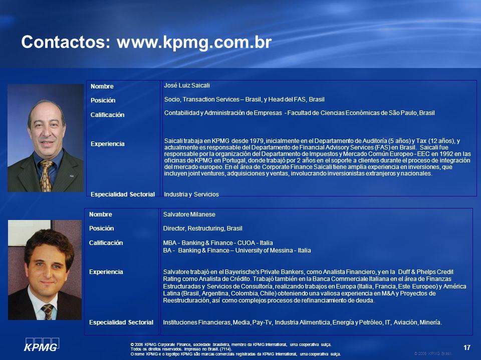 17 © 2006 KPMG Brasil.