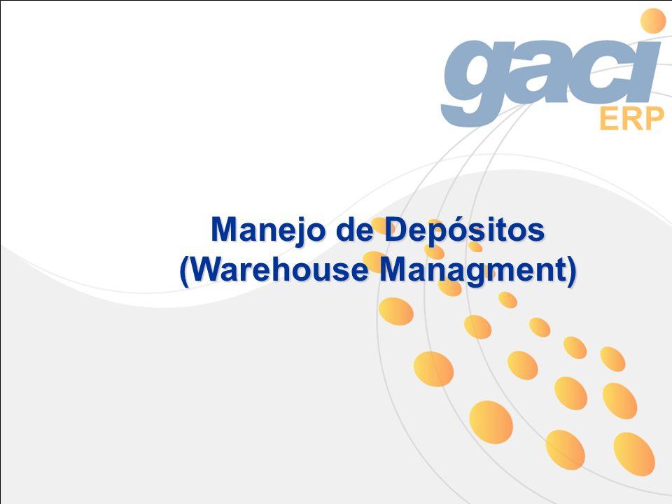 Manejo de Depósitos (Warehouse Managment)