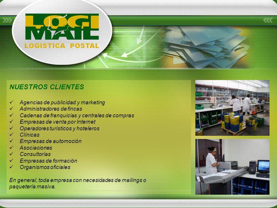Algunos de nuestros servicios: MAILING POSTAL IMPRESIÓN DE FACTURAS RETRACTILADO PICKING / PREPARACIÓN DE PEDIDOS BASES DE DATOS LOGÍSTICAS ESPECIALES Administradores de fincas Logística para agencias de publicidad Logística E-Commerce