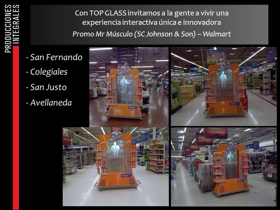 Con TOP GLASS invitamos a la gente a vivir una experiencia interactiva única e innovadora Promo Mr Músculo (SC Johnson & Son) – Walmart - San Fernando
