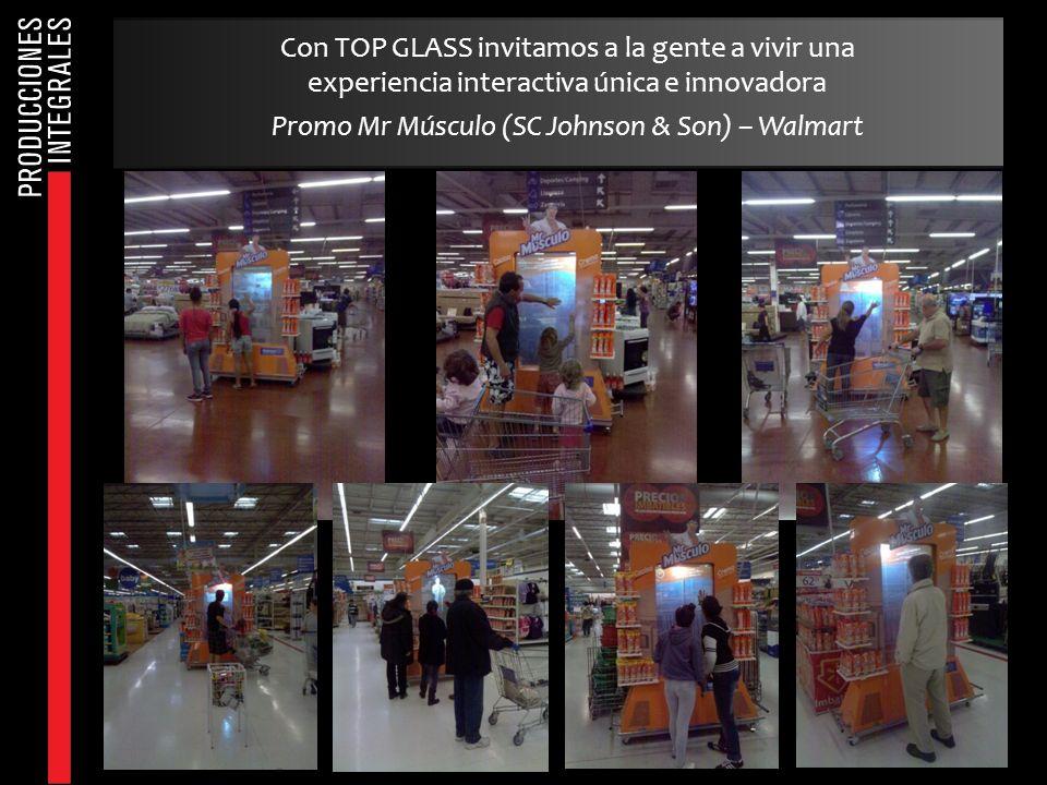 Con TOP GLASS invitamos a la gente a vivir una experiencia interactiva única e innovadora Promo Mr Músculo (SC Johnson & Son) – Walmart