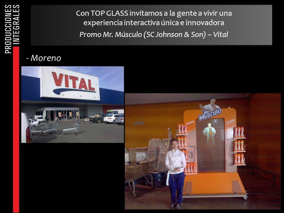 Con TOP GLASS invitamos a la gente a vivir una experiencia interactiva única e innovadora Promo Mr. Músculo (SC Johnson & Son) – Vital - Moreno