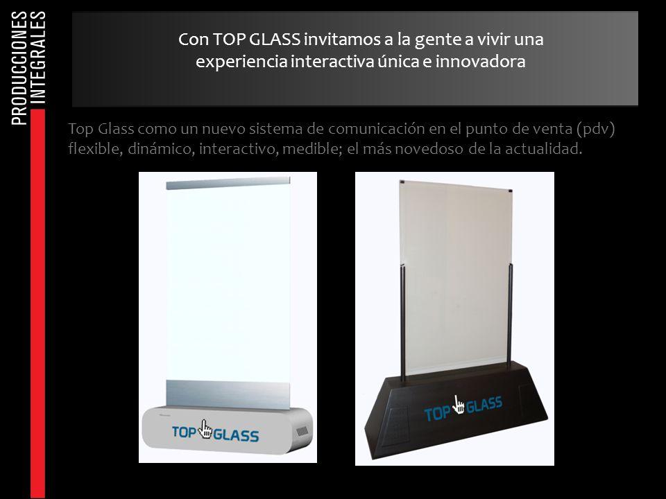 Top Glass como un nuevo sistema de comunicación en el punto de venta (pdv) flexible, dinámico, interactivo, medible; el más novedoso de la actualidad.
