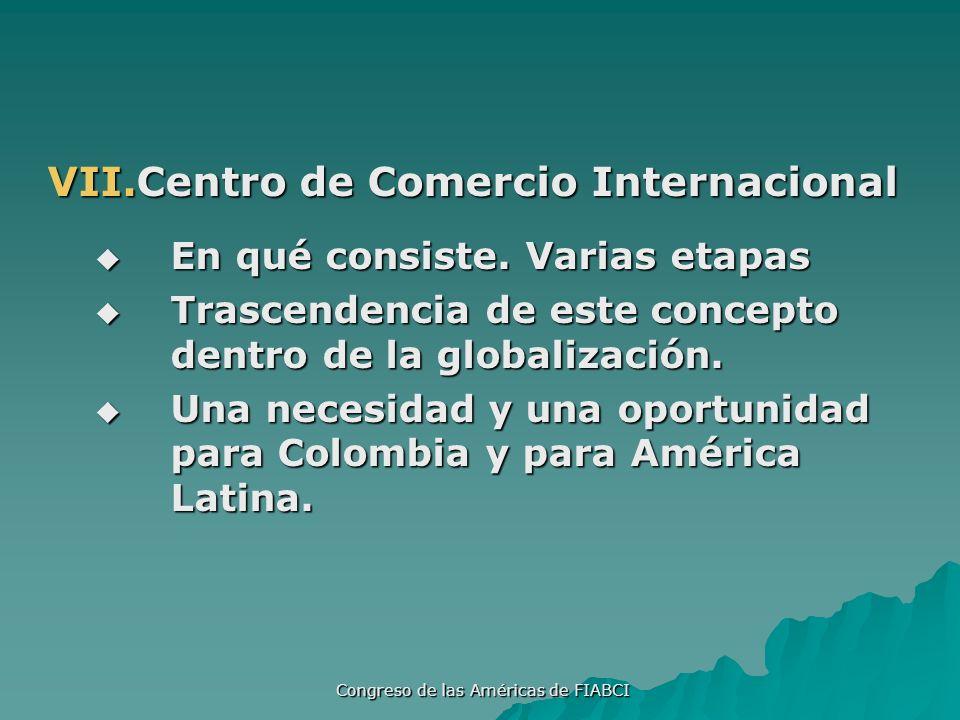Congreso de las Américas de FIABCI VII.Centro de Comercio Internacional En qué consiste.