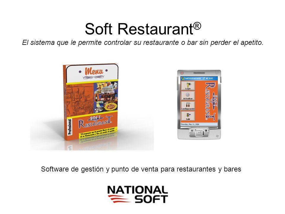 Soft Restaurant ® El sistema que le permite controlar su restaurante o bar sin perder el apetito. Software de gestión y punto de venta para restaurant