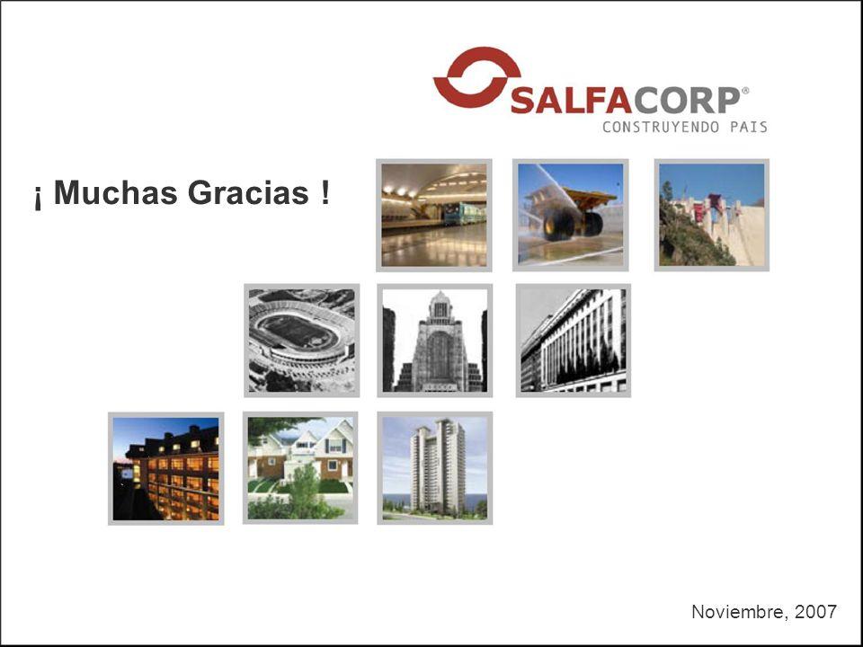 Noviembre, 2007 ¡ Muchas Gracias !