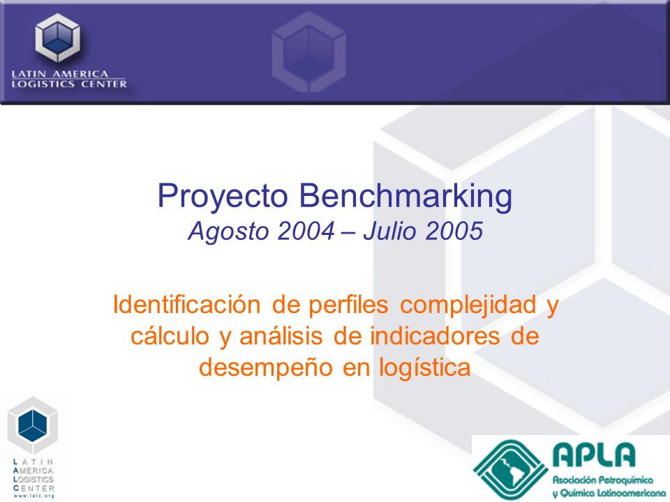19 Estructura: Tipo de Productos Latin America Logistics Center- Benchmarking APLA 2005