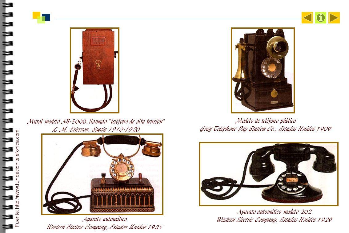 Mural modelo AB-5000, llamado teléfono de alta tensión L.