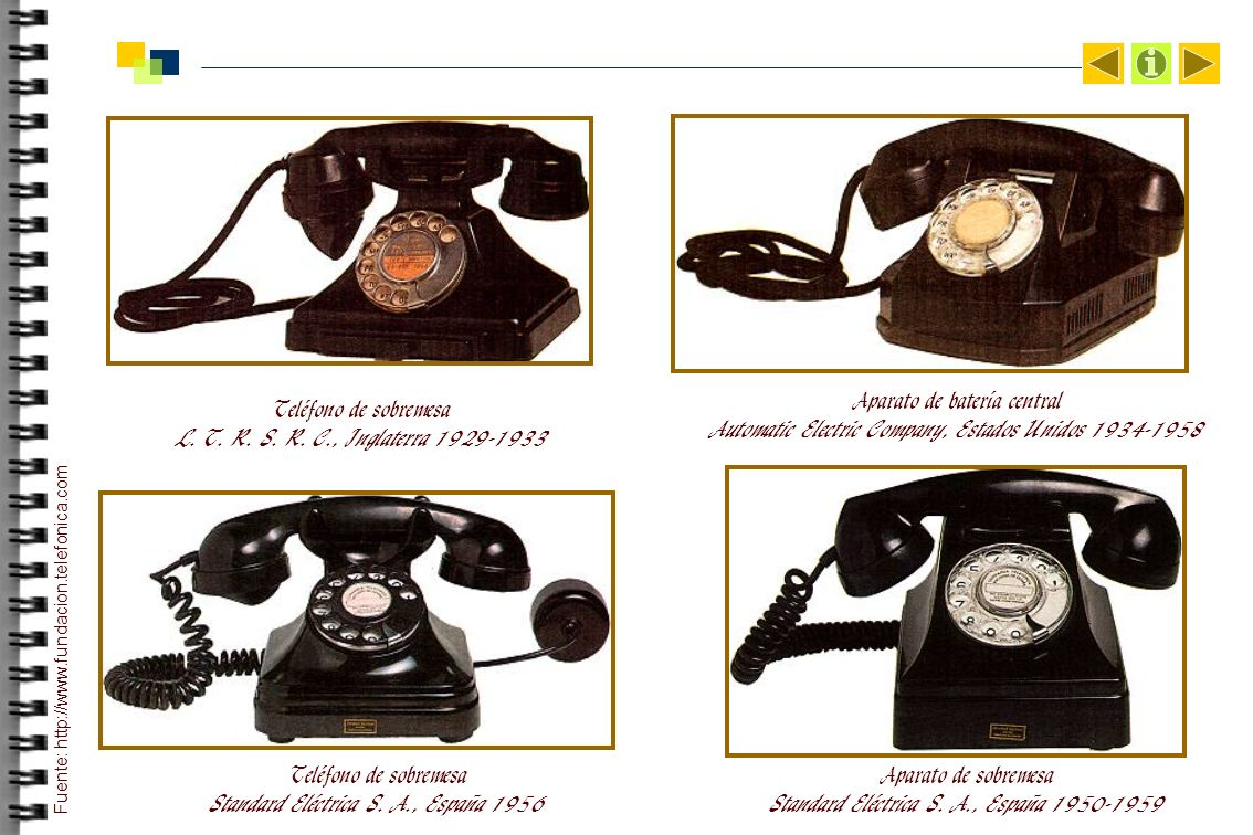 Aparato de batería central Automatic Electric Company, Estados Unidos 1934-1958 Teléfono de sobremesa Standard Eléctrica S.