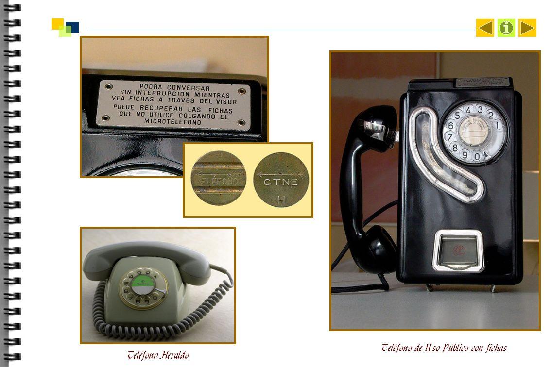Teléfono Heraldo Teléfono de Uso Público con fichas