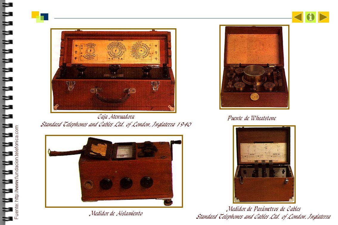 Caja Atenuadora Standard Telephones and Cables Ltd.