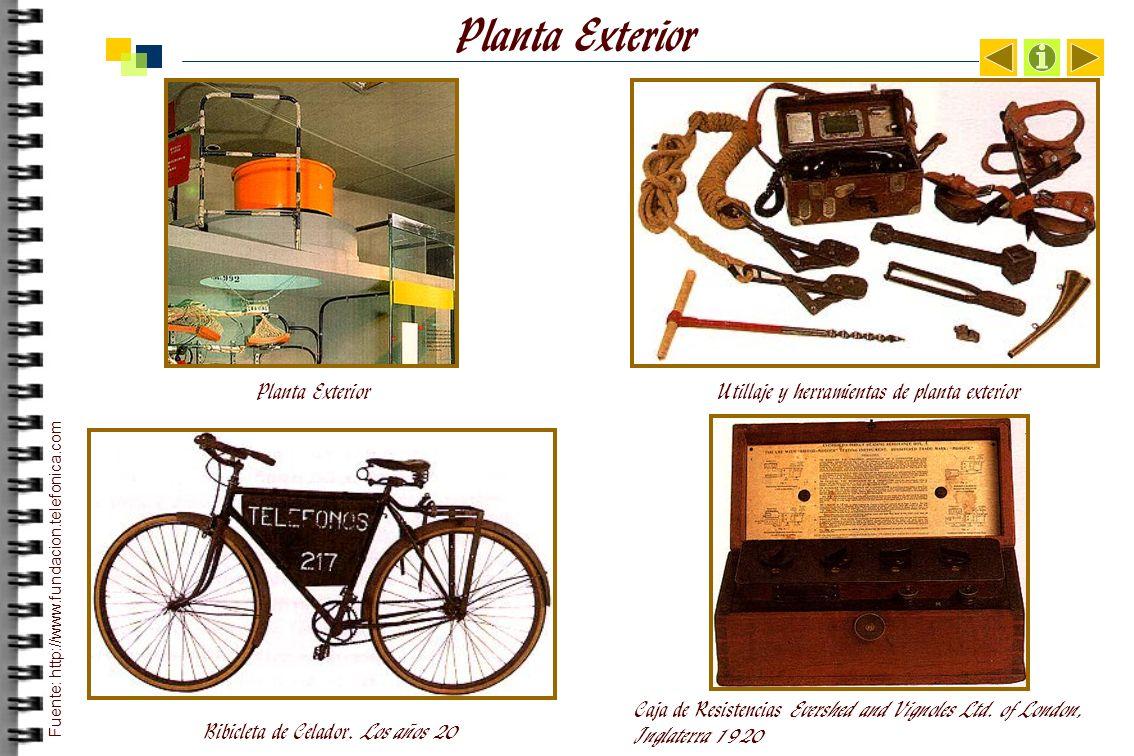 Planta Exterior Utillaje y herramientas de planta exterior Bibicleta de Celador.
