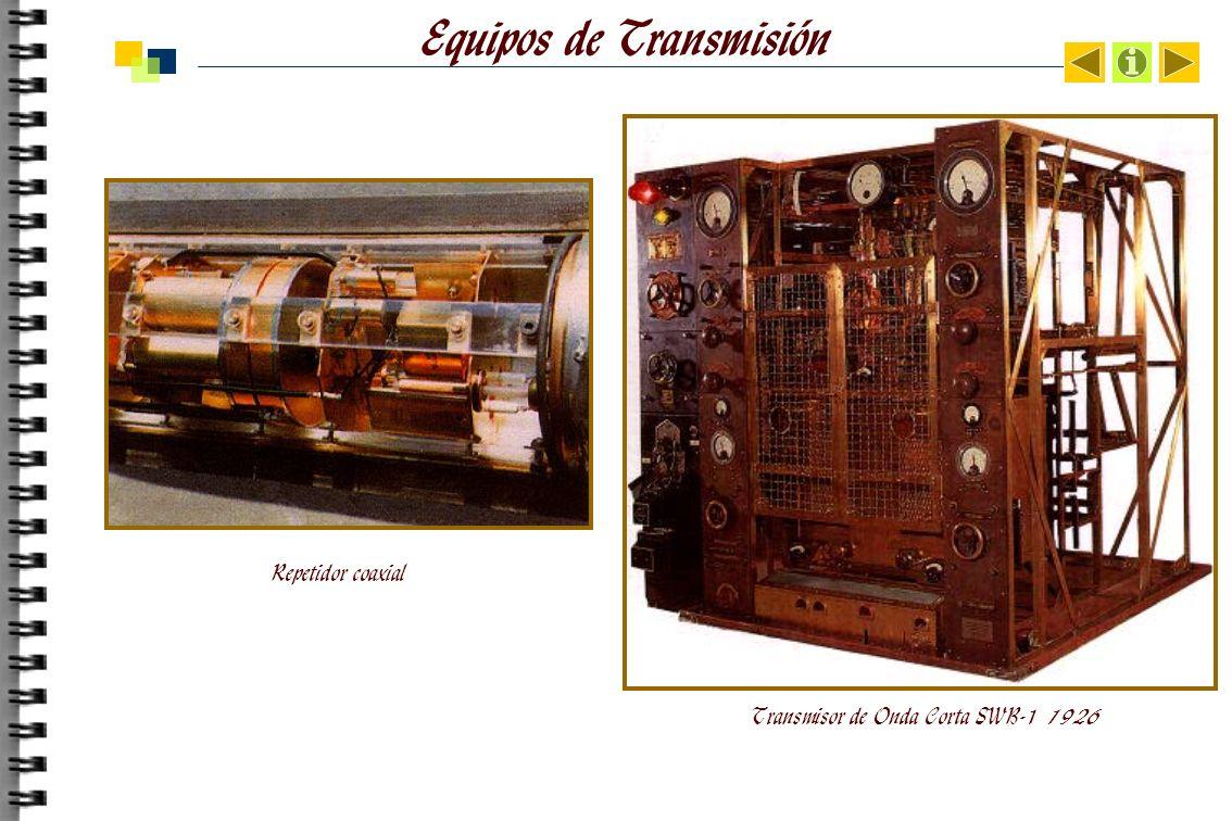 Equipos de Transmisión Repetidor coaxial Transmisor de Onda Corta SWB-1 1926