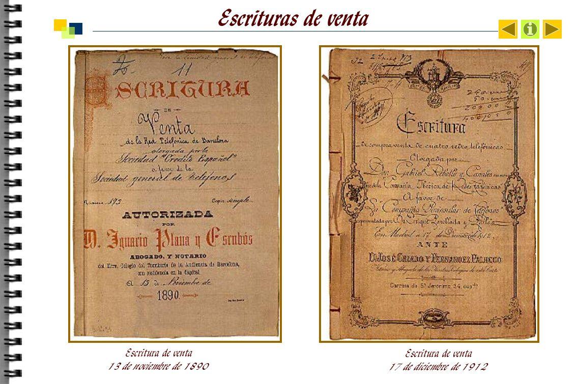 Escrituras de venta Escritura de venta 13 de noviembre de 1890 Escritura de venta 17 de diciembre de 1912