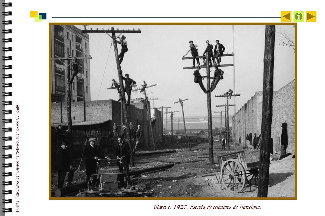Claret c.1927, Escuela de celadores de Barcelona.