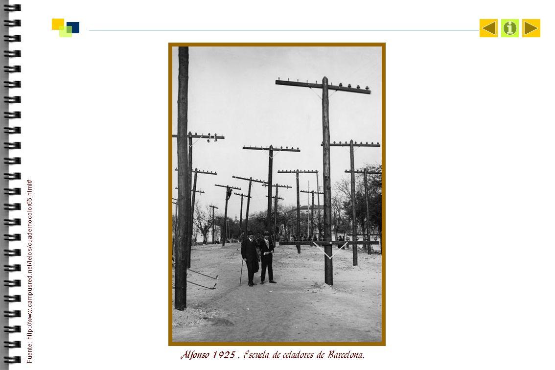 Alfonso 1925, Escuela de celadores de Barcelona.
