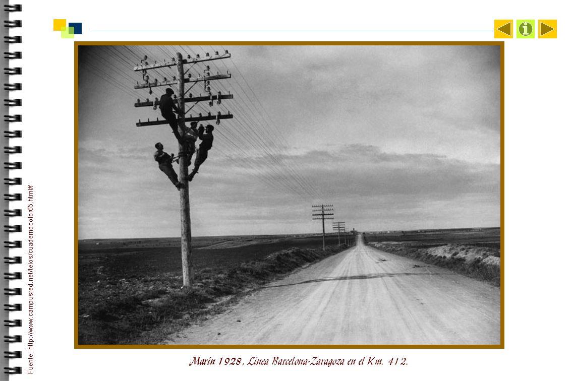 Marín 1928, Línea Barcelona-Zaragoza en el Km.412.