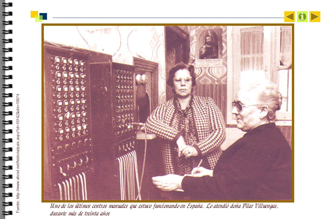 Uno de los últimos centros manuales que estuvo funcionando en España.